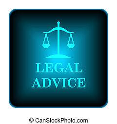 icône, légal, conseil