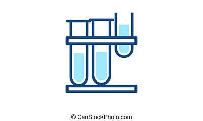 icône, laboratoire, recherche, monde médical