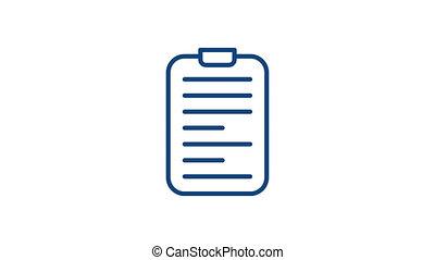 icône, linéaire, histoire médicale