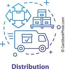 icône, logistique, concept, distribution