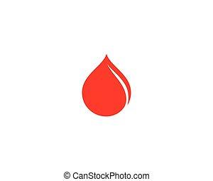 icône, logo, sanguine, gabarit, vecteur