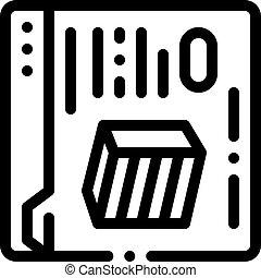 icône, magasin, internet, illustration, contour, vecteur, meubles