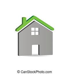 icône, maison, vecteur, illustration