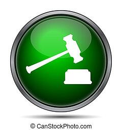 icône, marteau, juge