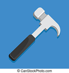 icône, marteau, vecteur