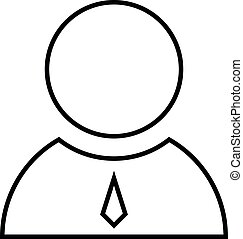 icône, mince, directeur, business, ligne