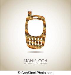 icône, mobile