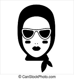 icône, mode, blogger