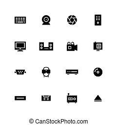 icône, multimédia