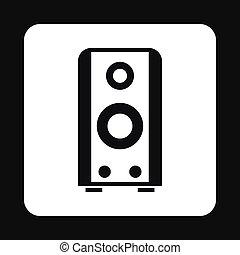 icône, musique, style, speacker, simple