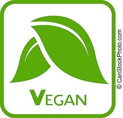 icône, nature, vegan