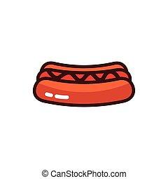 icône, nourriture, chien, jeûne, chaud
