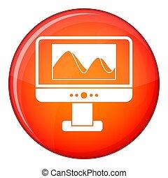 icône ordinateur, photo, écran, moniteur