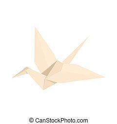 vecteur eps de ic ne blanc grue style dessin anim style dessin csp38174540. Black Bedroom Furniture Sets. Home Design Ideas