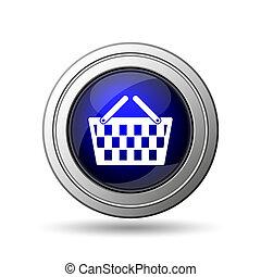 icône, panier, achats
