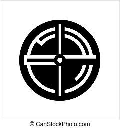 icône, panneau objectif