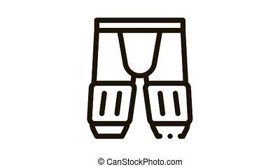 icône, pantalon, animation, sécurité