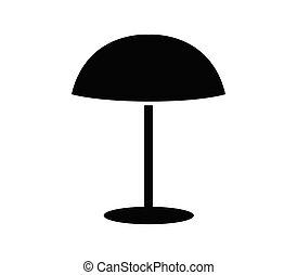 icône, parapluie, blanc, mer, fond, illustré