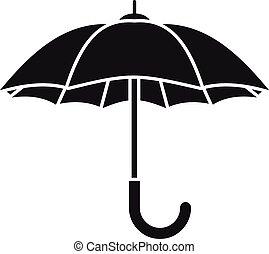 icône, parapluie, simple, style