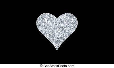 icône, particules, carte, coeur, scintillement, jouer,...