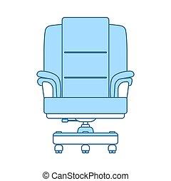 icône, patron, fauteuil
