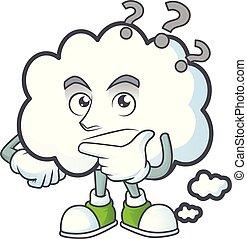 icône, pensée, conception, bulle, nuage