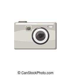 icône, photo, style, appareil photo, dessin animé