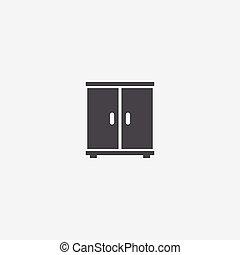 icône, placard
