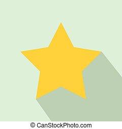 icône, plat, style, étoile