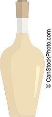 icône, plat, style, bouteille, alcoolique