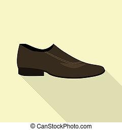 icône, plat, style, chaussure, élégance