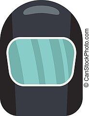 icône, plat, style, masque protecteur