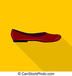 icône, plat, style, mode, chaussure