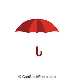 icône, plat, style, parapluie