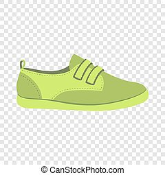 icône, plat, style, vert, chaussure