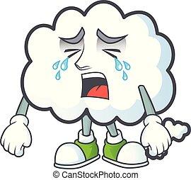 icône, pleurer, bulle, conception, pensée, nuage