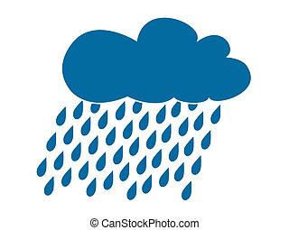 icône, pluie