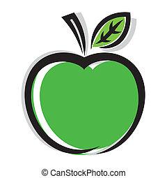 icône, pomme