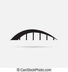 icône, pont, isolé