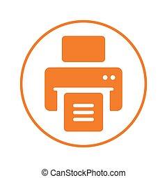 icône, publier, imprimante, dehors, impression, document, ...