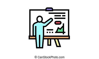 icône, pupille, animation, couleur, présentation