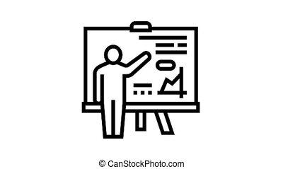 icône, pupille, animation, ligne, présentation