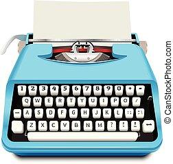 icône, réaliste, style, machine écrire