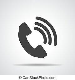icône, récepteur, vecteur, téléphone