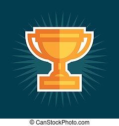 icône, récompense, trophée