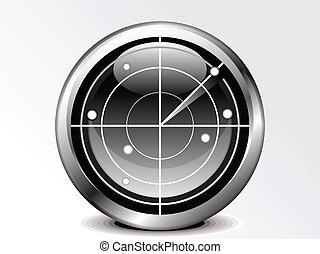 icône, radar, résumé