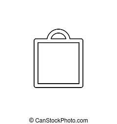 icône, sac, vecteur, achats, mode