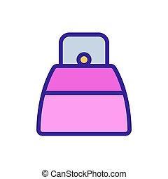 icône, sac, vector., couleur, poignée, deux