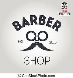 icône, salon coiffure, logotype, logo, ou