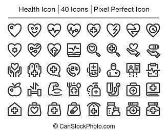 icône, santé